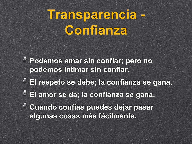 Transparencia - Confianza