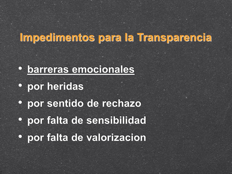 Impedimentos para la Transparencia
