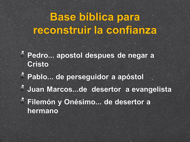 Base bíblica para reconstruir la confianza