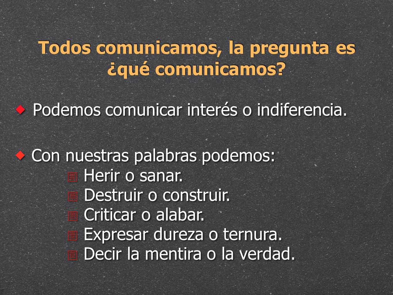 Todos comunicamos, la pregunta es ¿qué comunicamos
