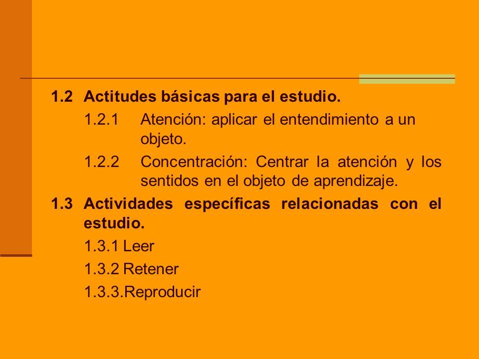 1.2 Actitudes básicas para el estudio.