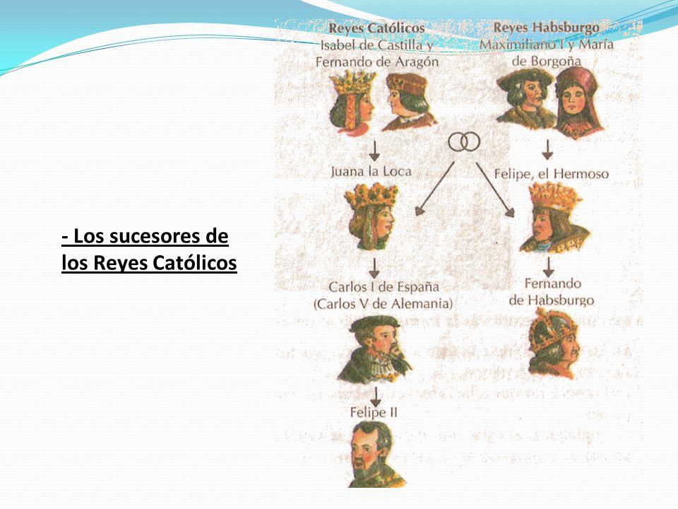 - Los sucesores de los Reyes Católicos