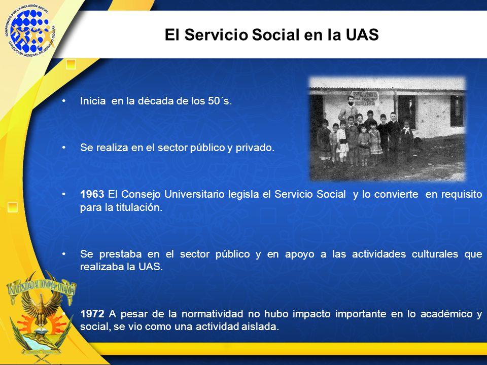 El Servicio Social en la UAS