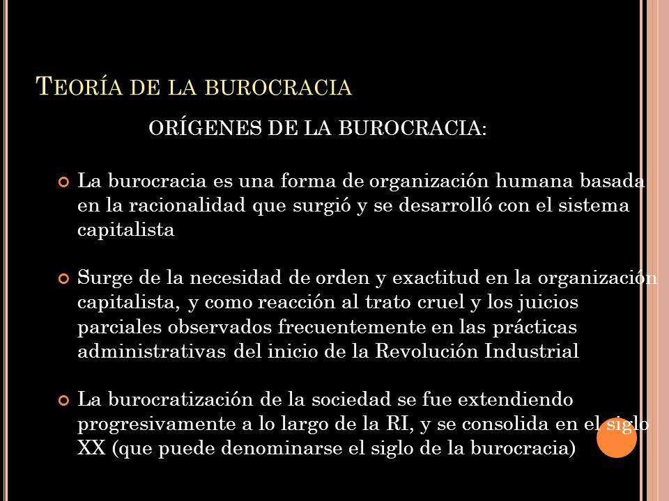 Teoría de la burocracia