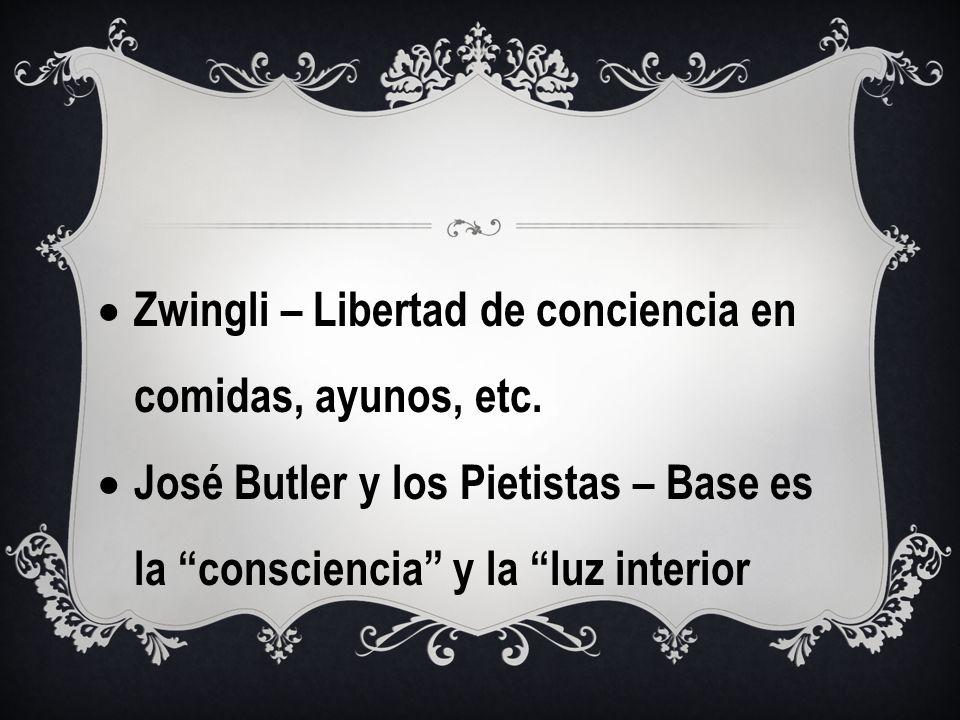 Zwingli – Libertad de conciencia en comidas, ayunos, etc.