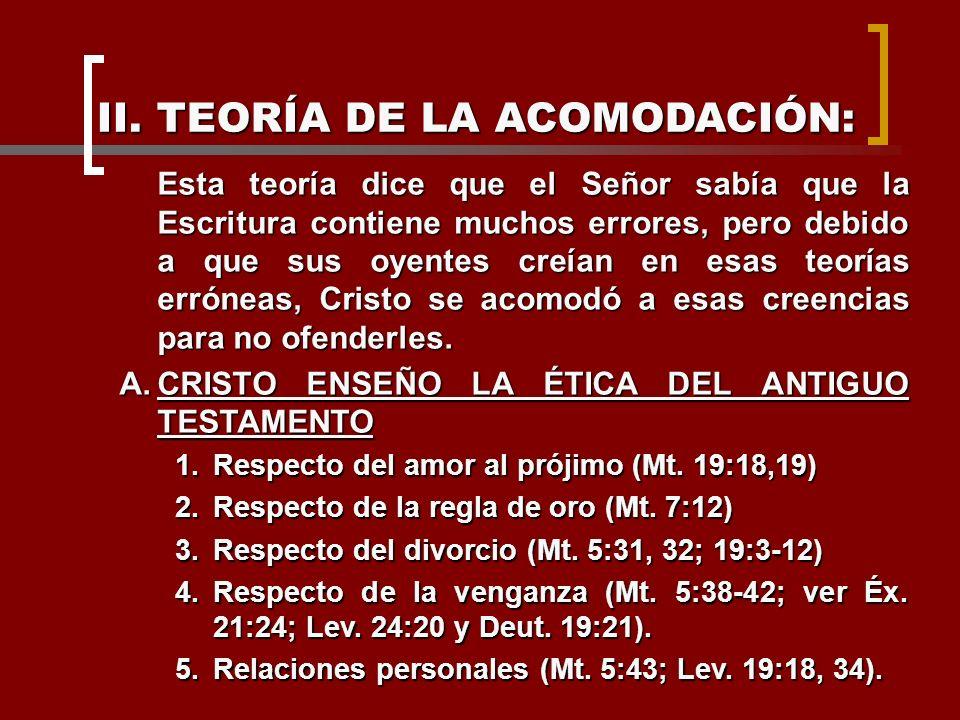 II. TEORÍA DE LA ACOMODACIÓN: