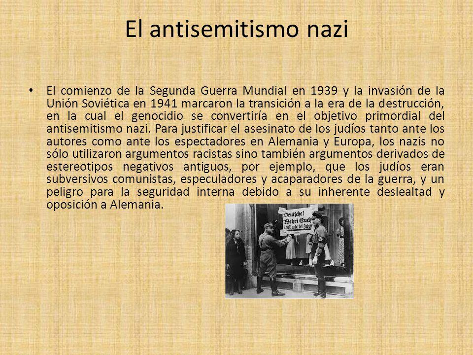 El antisemitismo nazi