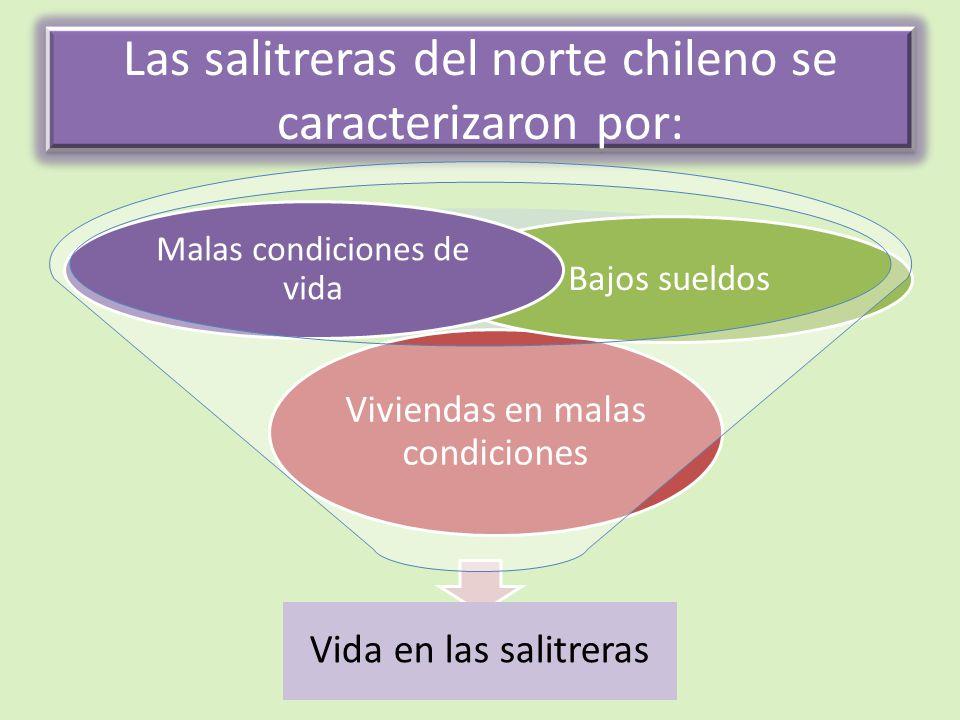 Las salitreras del norte chileno se caracterizaron por: