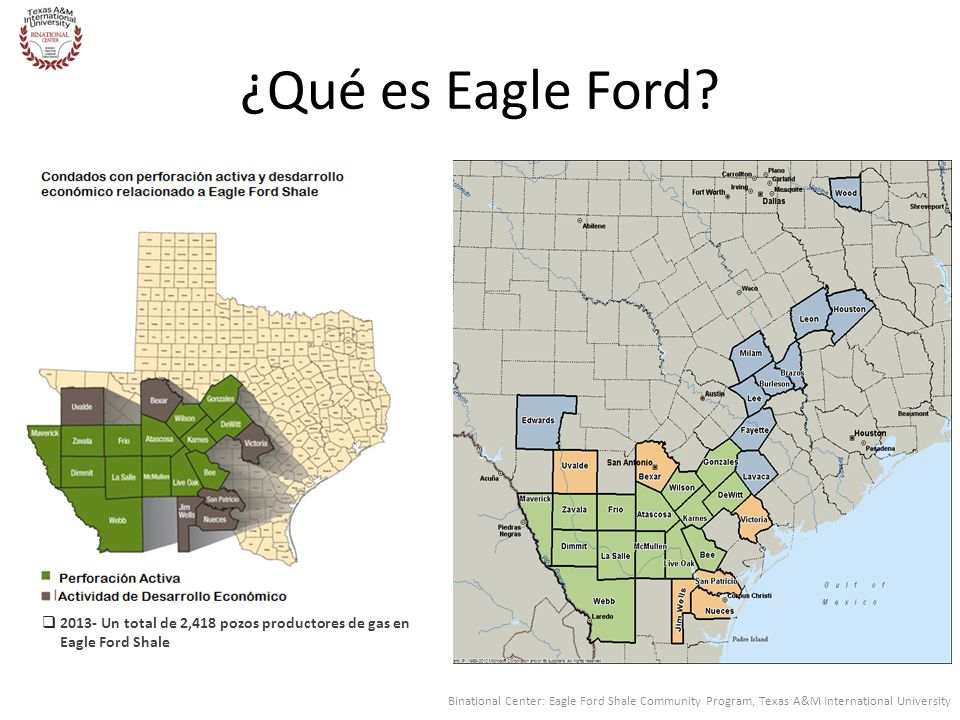¿Qué es Eagle Ford Show maps of Counties