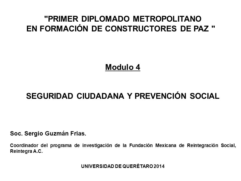PRIMER DIPLOMADO METROPOLITANO EN FORMACIÓN DE CONSTRUCTORES DE PAZ