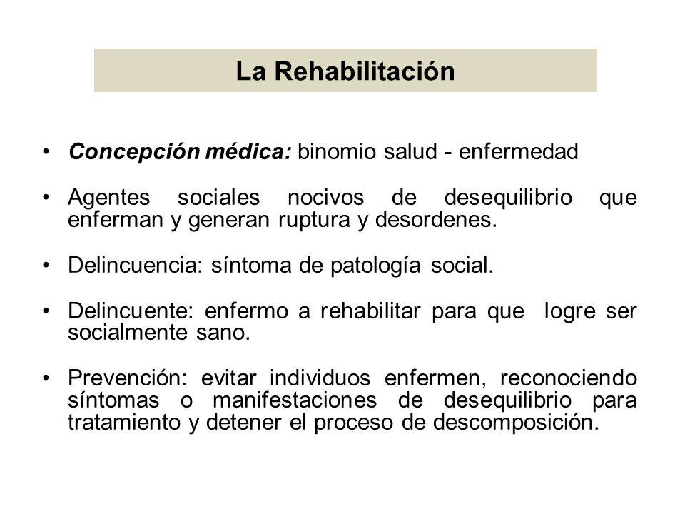 La Rehabilitación Concepción médica: binomio salud - enfermedad