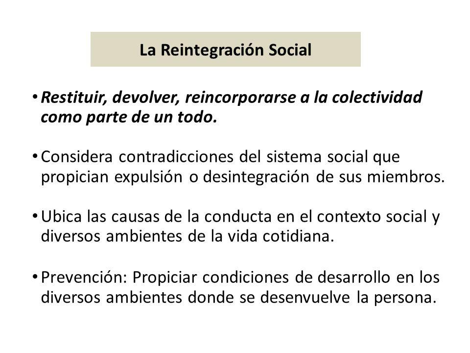 La Reintegración Social