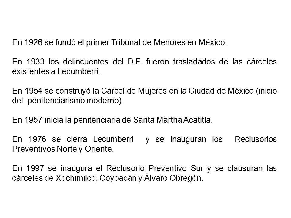 En 1926 se fundó el primer Tribunal de Menores en México.