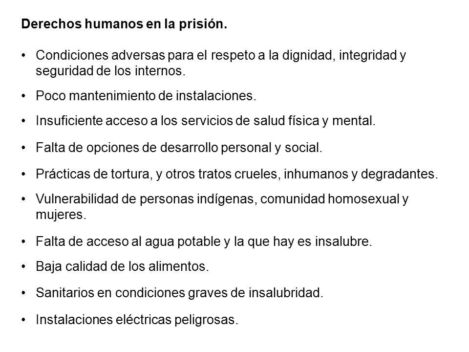 Derechos humanos en la prisión.