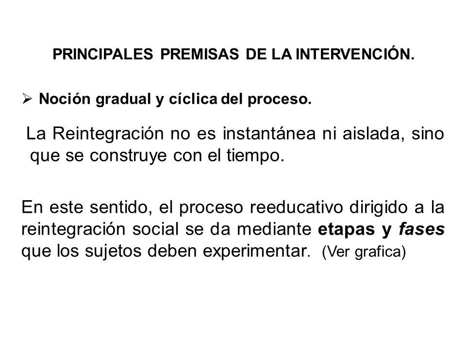 PRINCIPALES PREMISAS DE LA INTERVENCIÓN.