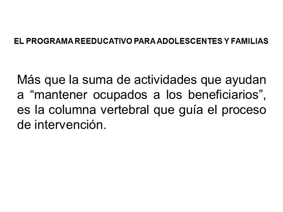 EL PROGRAMA REEDUCATIVO PARA ADOLESCENTES Y FAMILIAS