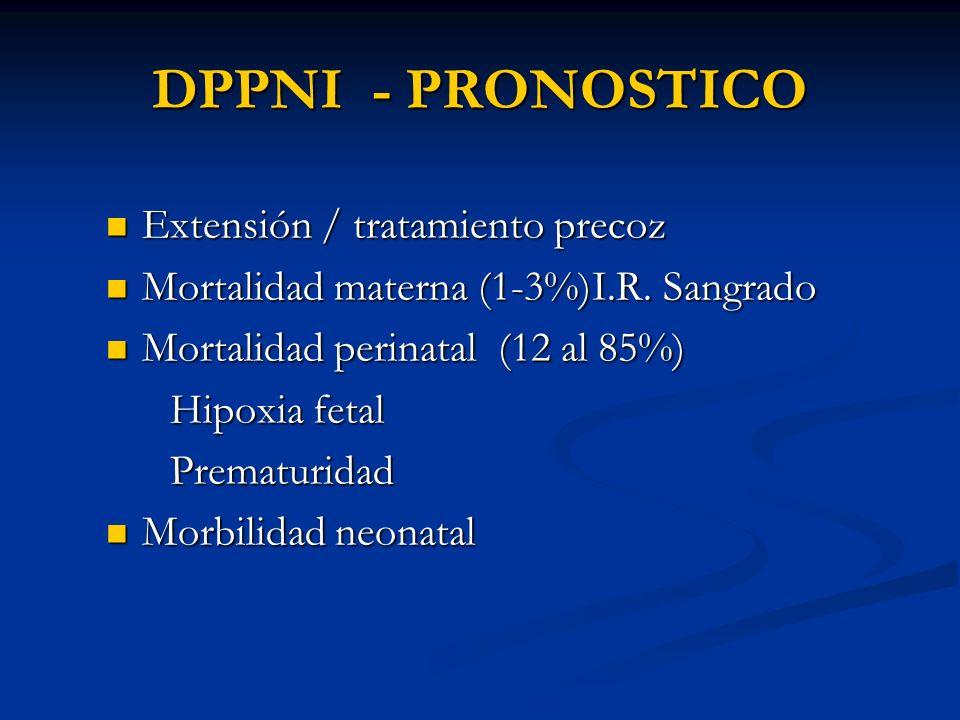 DPPNI - PRONOSTICO Extensión / tratamiento precoz