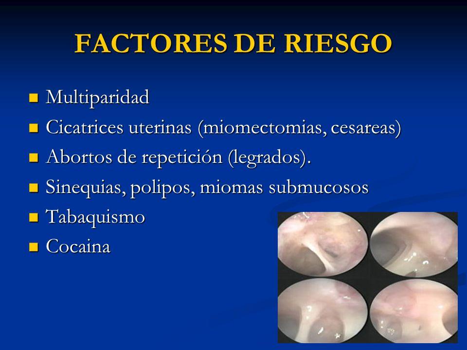FACTORES DE RIESGO Multiparidad