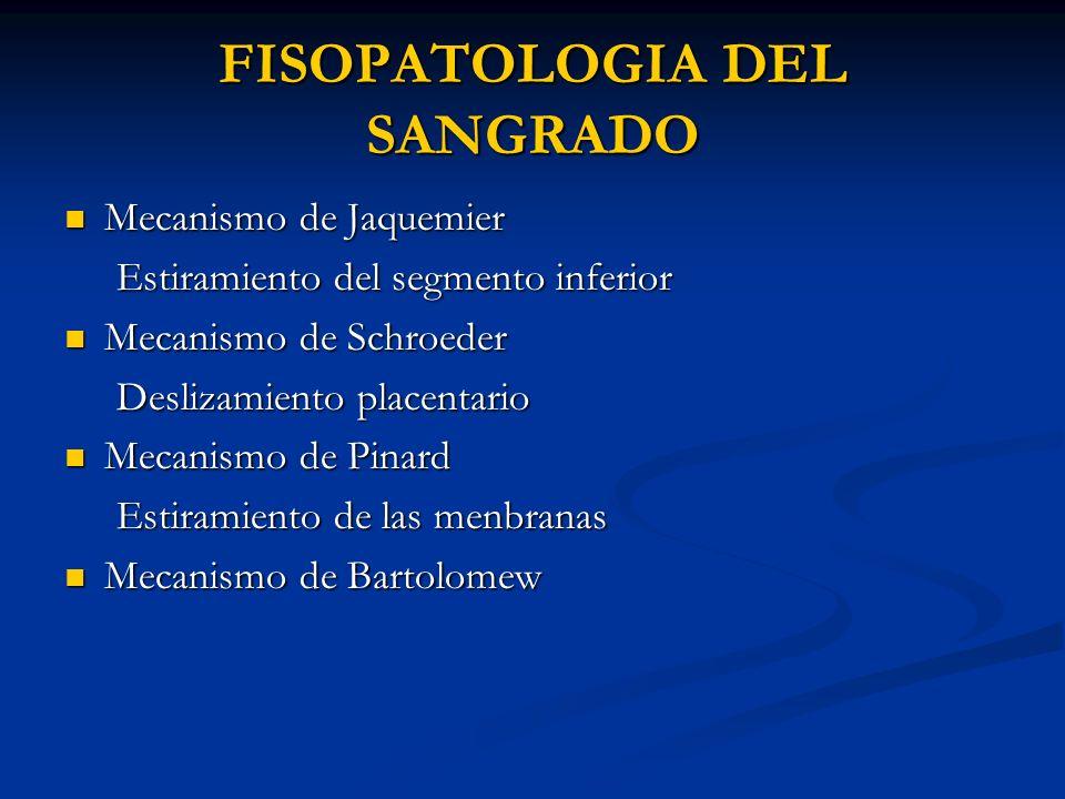 FISOPATOLOGIA DEL SANGRADO