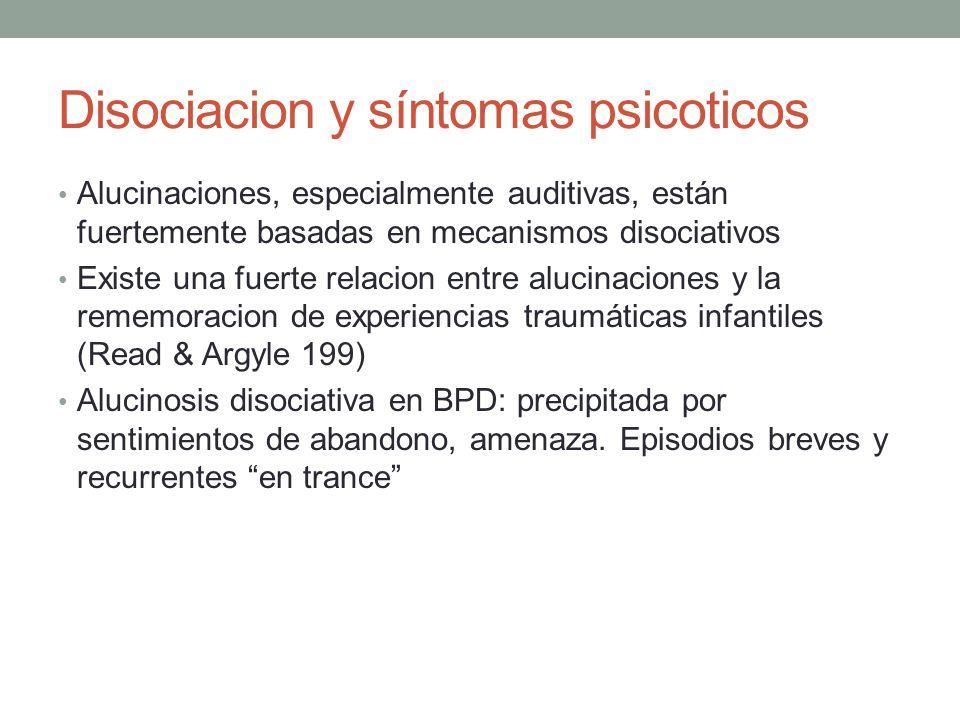 Disociacion y síntomas psicoticos