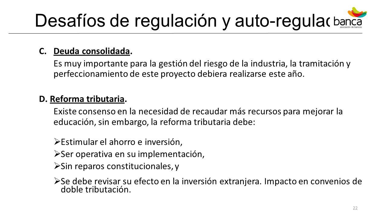 Desafíos de regulación y auto-regulación