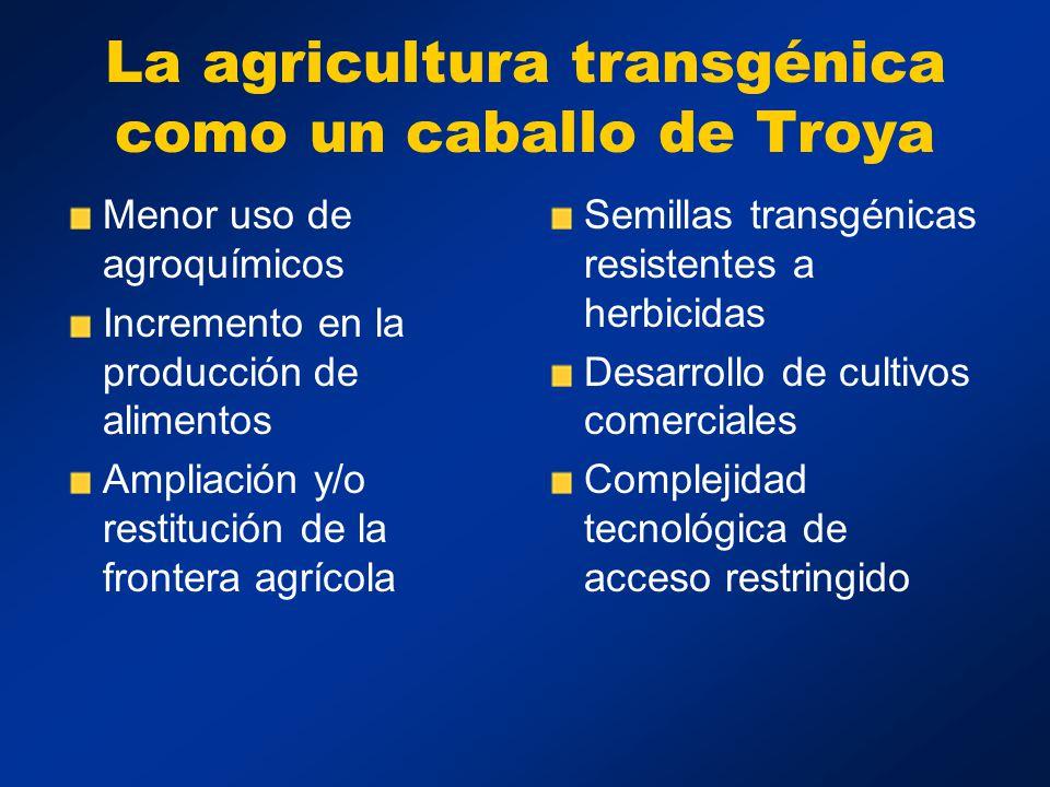 La agricultura transgénica como un caballo de Troya