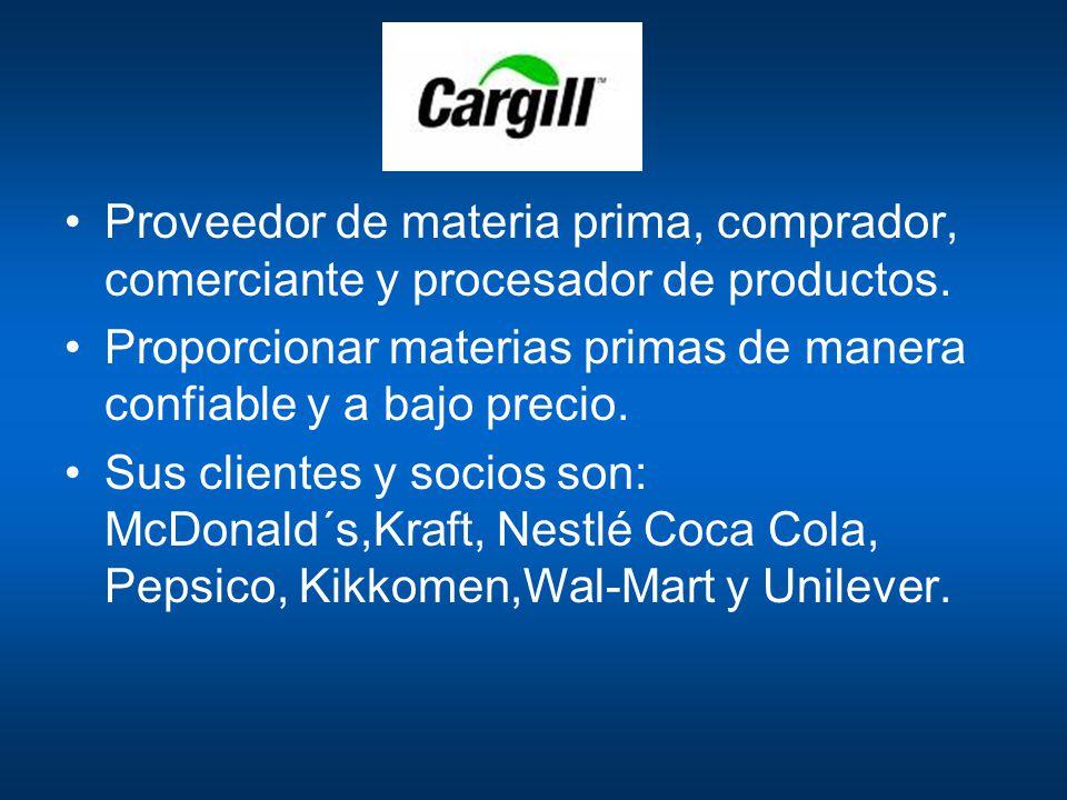Proveedor de materia prima, comprador, comerciante y procesador de productos.