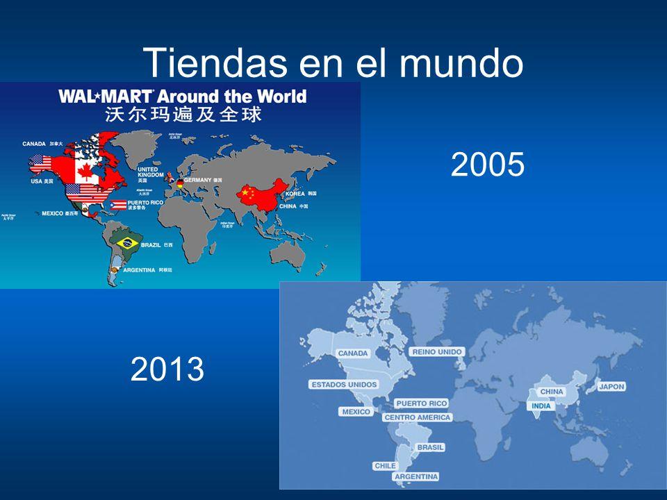 Tiendas en el mundo 2005 2013