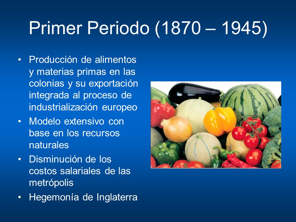 Primer Periodo (1870 – 1945)