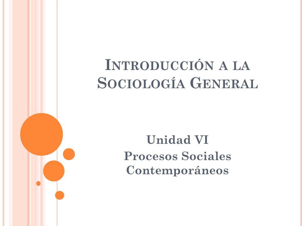 Introducción a la Sociología General
