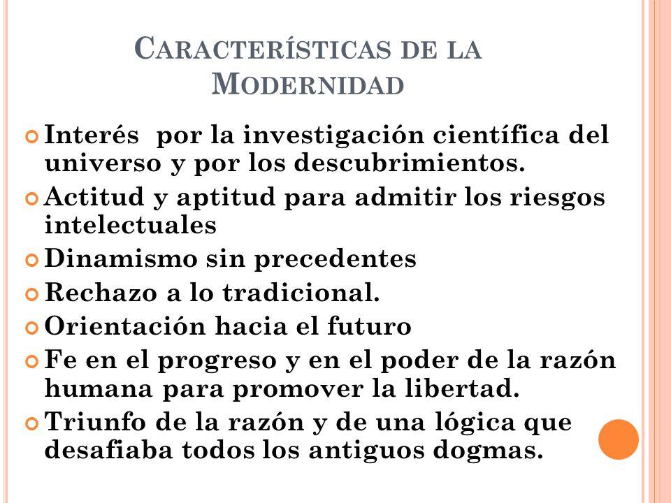 Características de la Modernidad