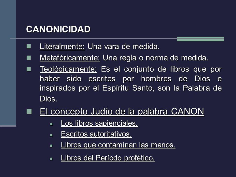 El concepto Judío de la palabra CANON