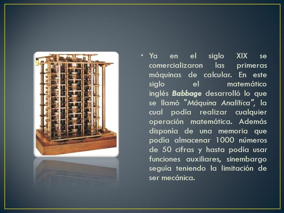 Ya en el siglo XIX se comercializaron las primeras máquinas de calcular.