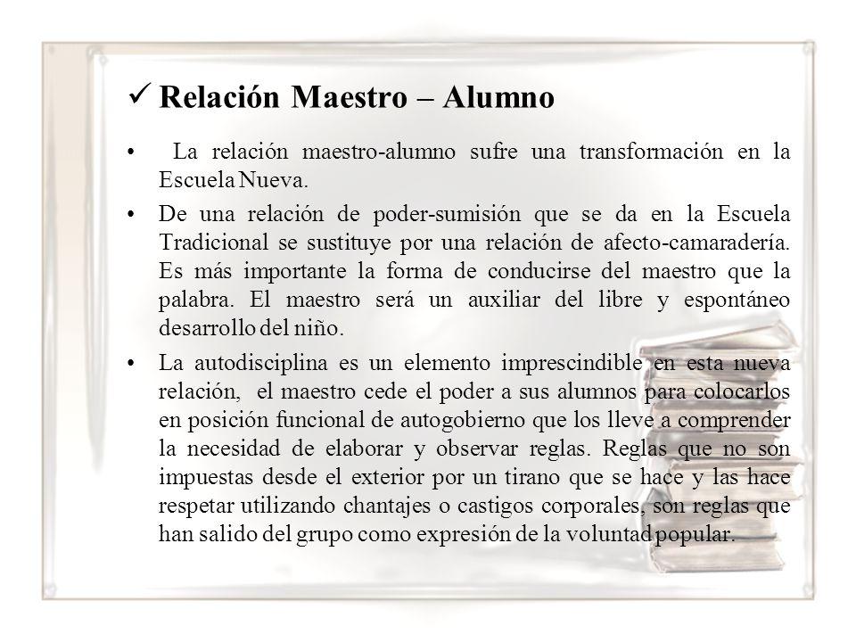 Relación Maestro – Alumno