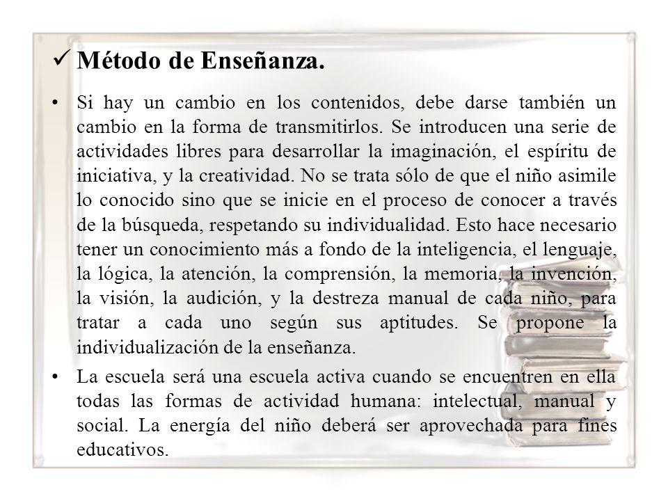 Método de Enseñanza.