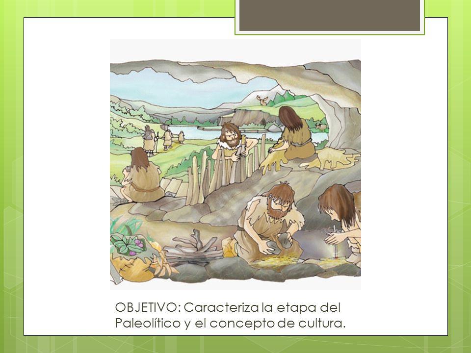 OBJETIVO: Caracteriza la etapa del Paleolítico y el concepto de cultura.