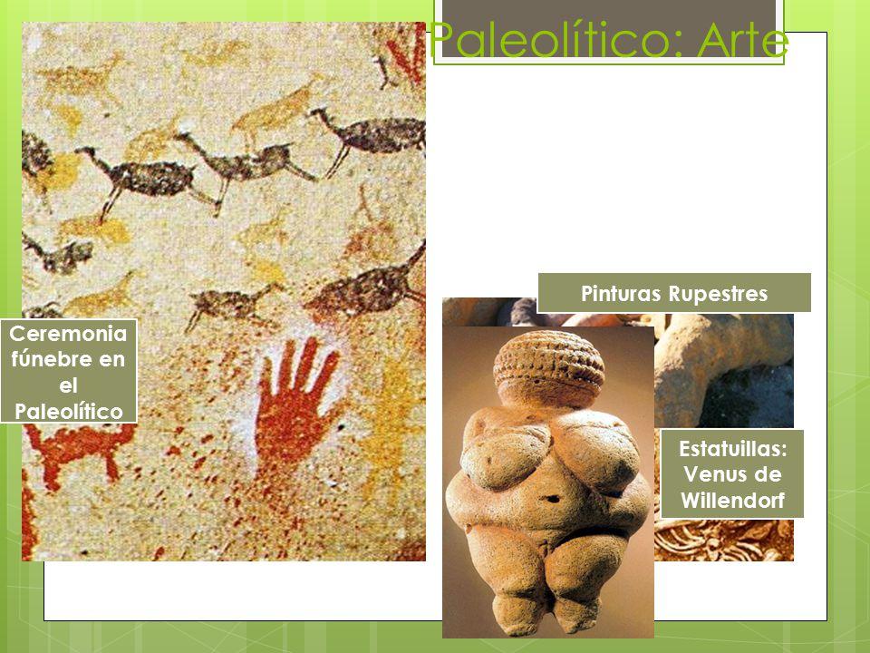 Ceremonia fúnebre en el Paleolítico Estatuillas: Venus de Willendorf