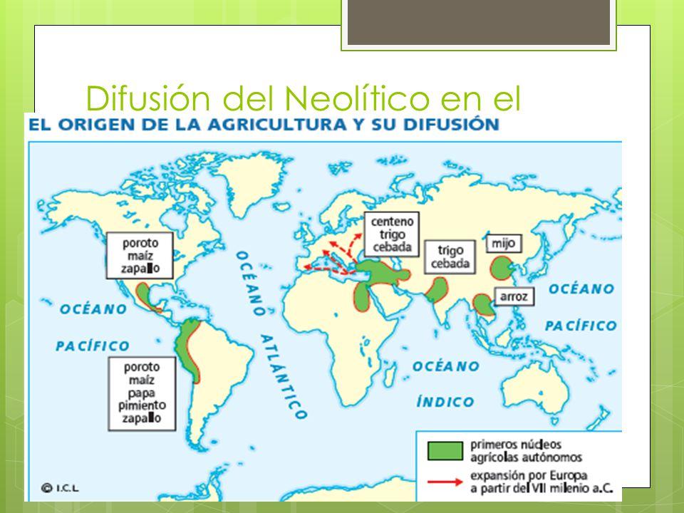 Difusión del Neolítico en el espacio geográfico