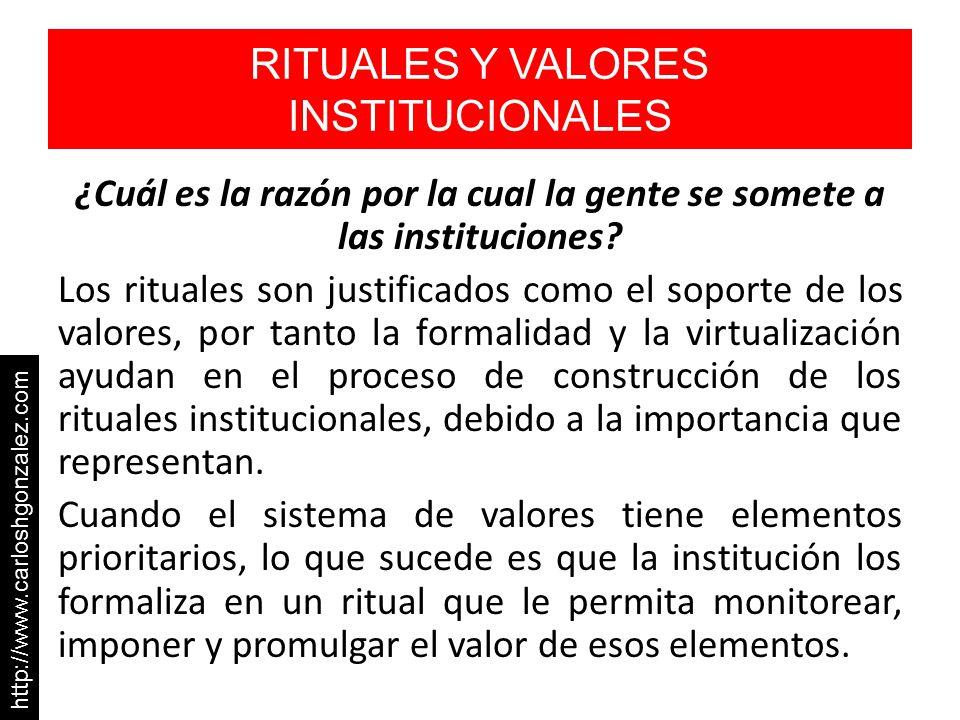 RITUALES Y VALORES INSTITUCIONALES