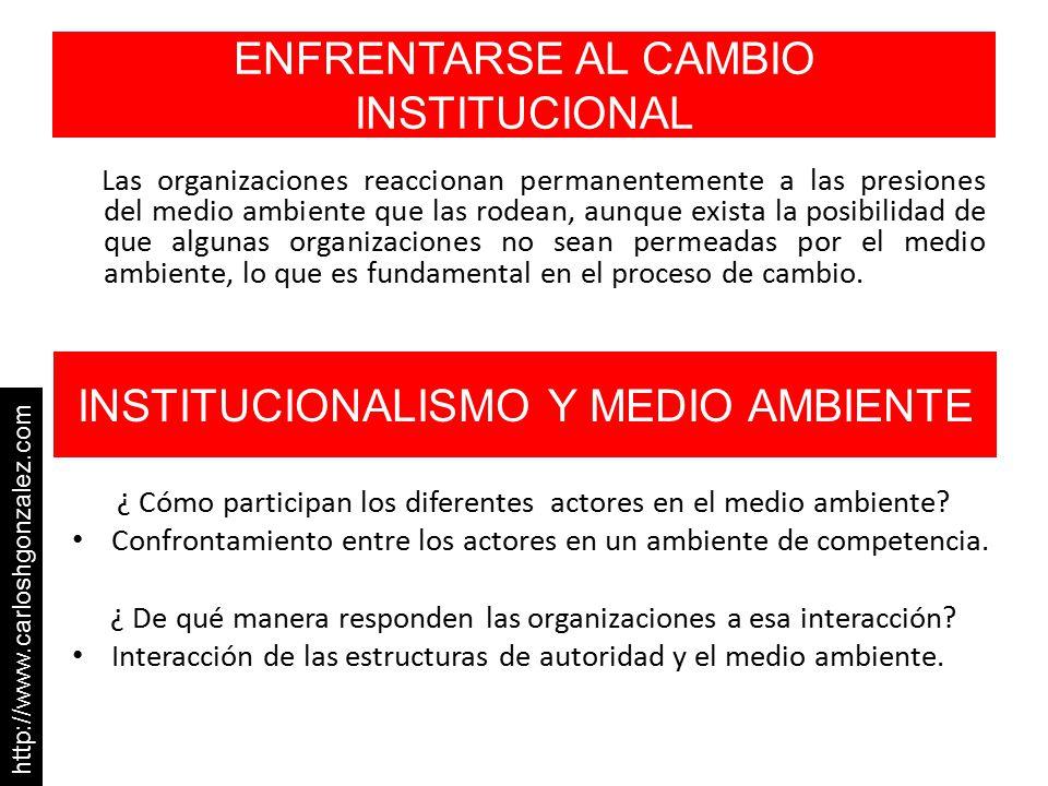 ENFRENTARSE AL CAMBIO INSTITUCIONAL