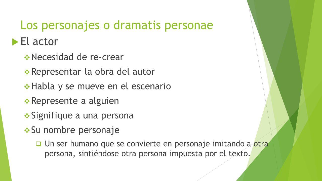 Los personajes o dramatis personae