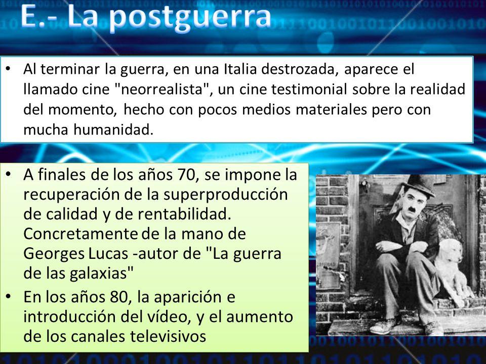 E.- La postguerra