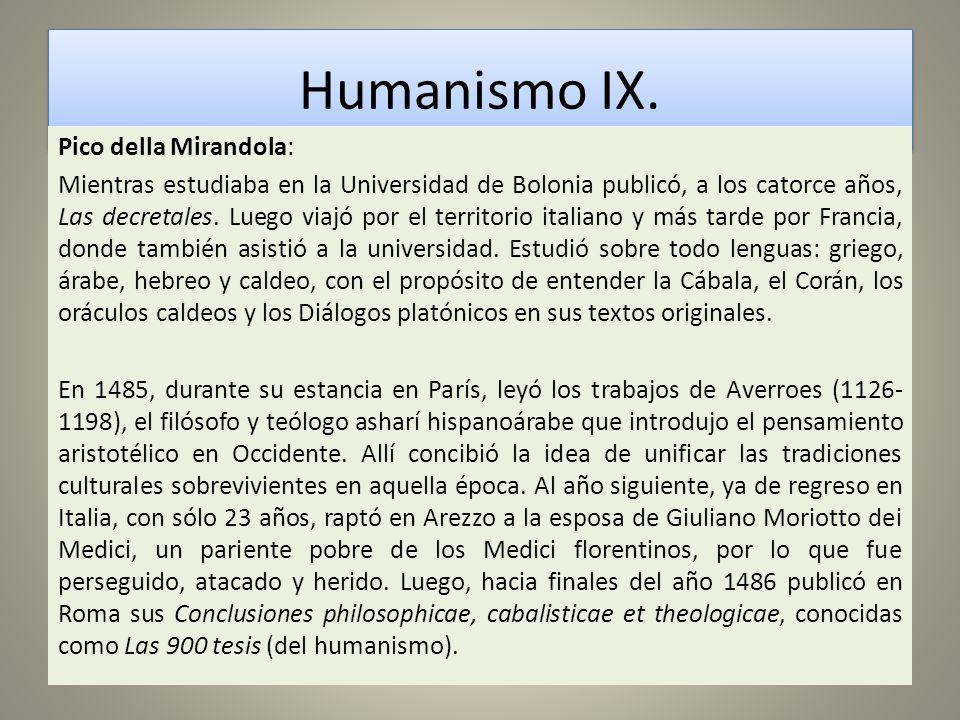 Humanismo IX.