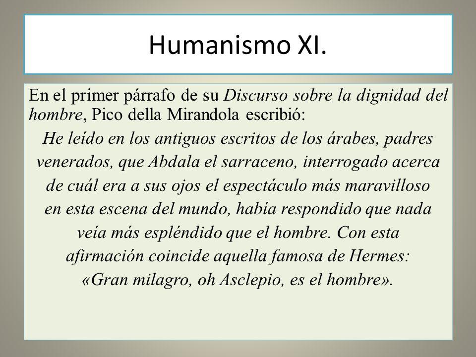 Humanismo XI.