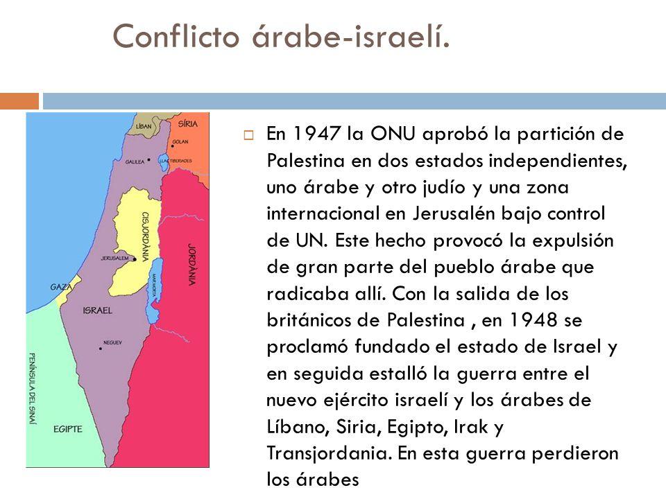 Conflicto árabe-israelí.