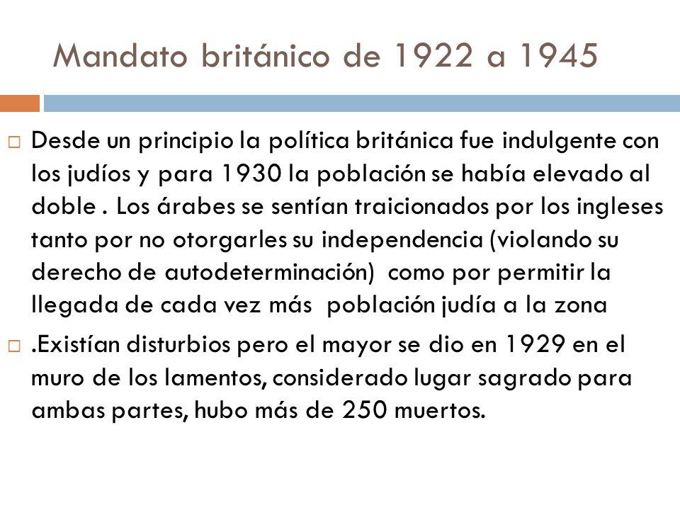 Mandato británico de 1922 a 1945