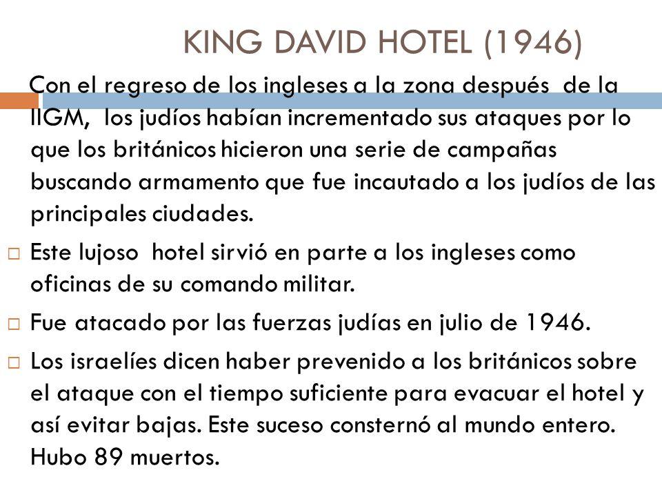 KING DAVID HOTEL (1946)