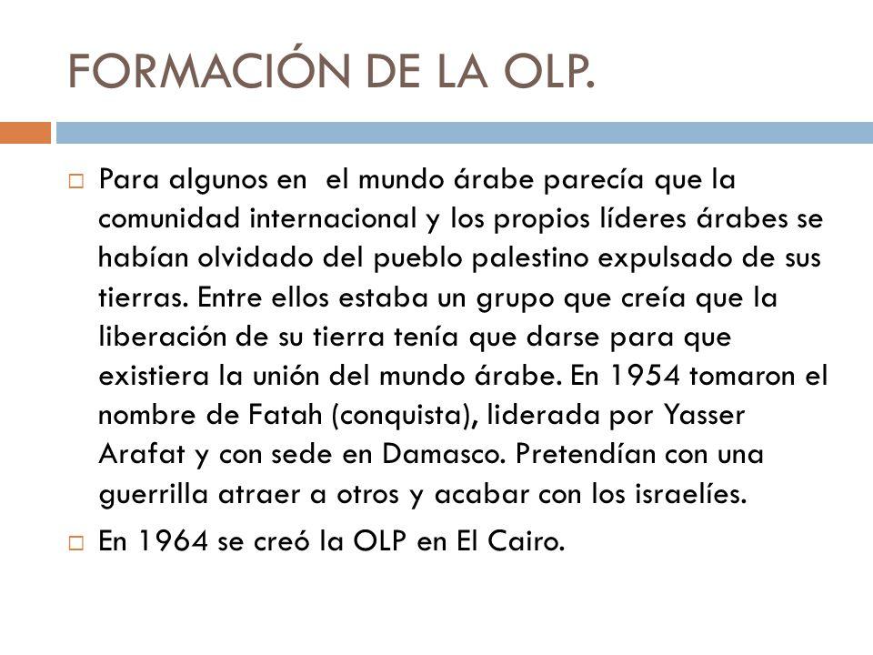 FORMACIÓN DE LA OLP.