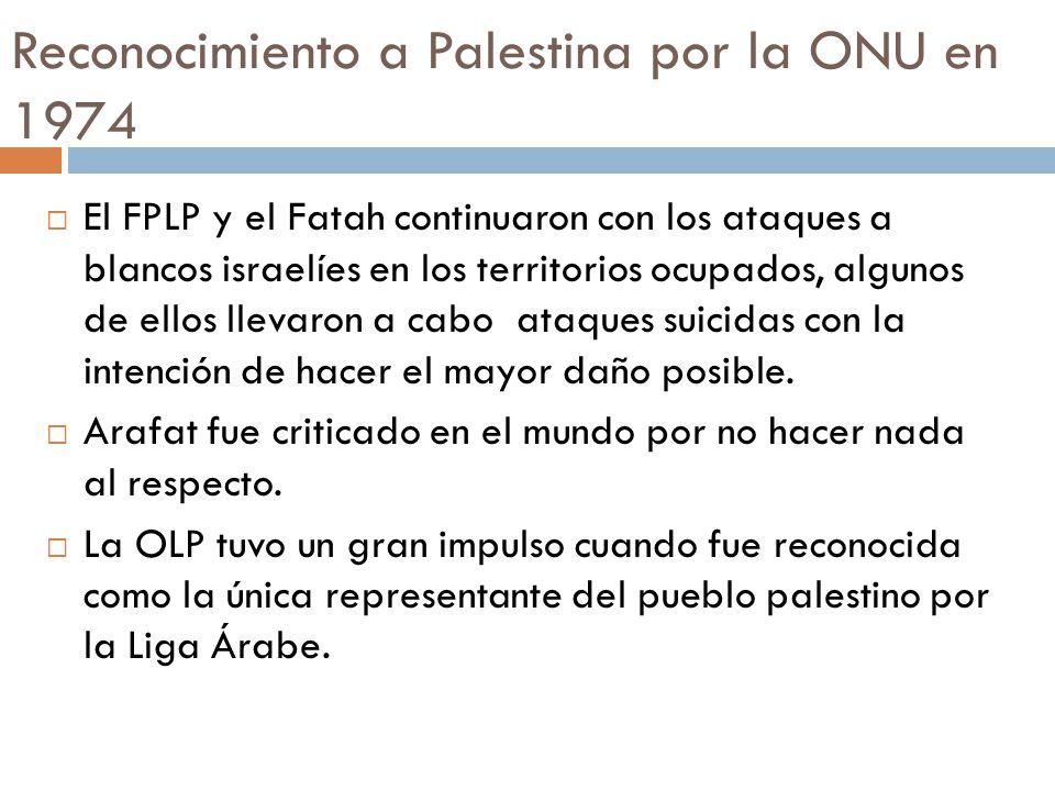 Reconocimiento a Palestina por la ONU en 1974