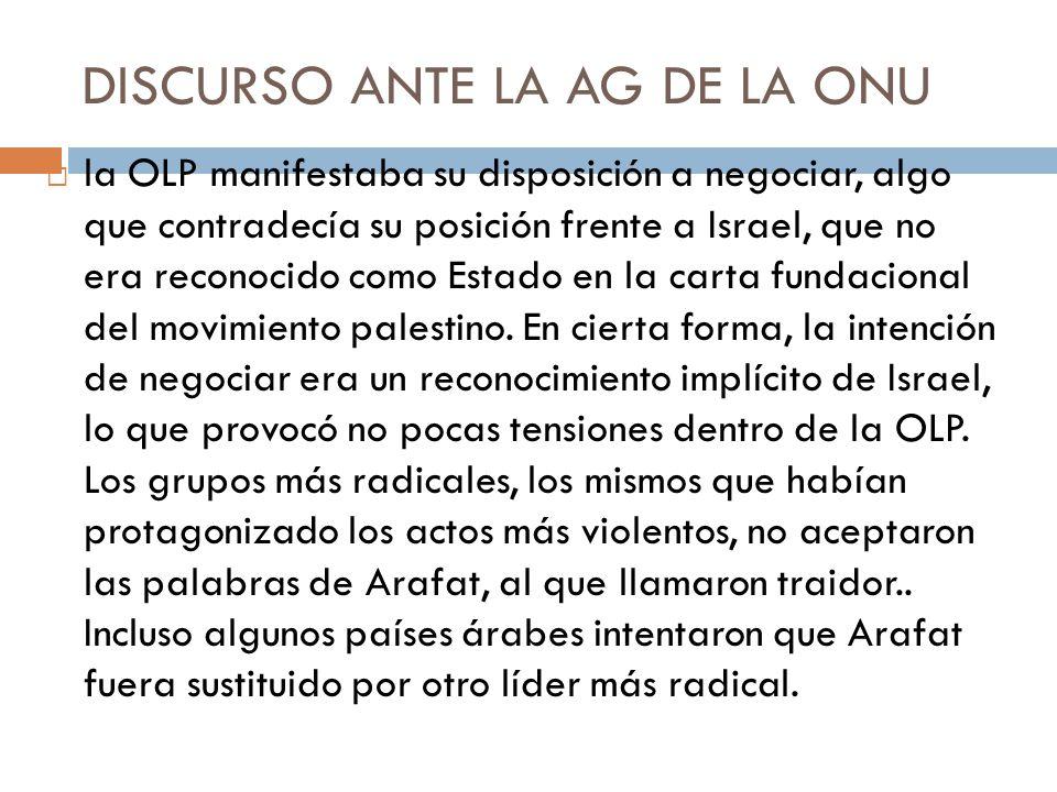 DISCURSO ANTE LA AG DE LA ONU